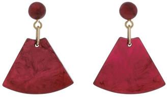 Basque Rose Triangle Drop Earring