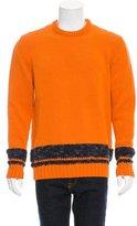 Hermes Striped Rib Knit Sweater