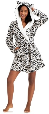 Jenni Hooded Short Cozy Robe, Created for Macy's