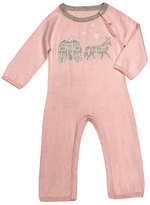 Lucky Jade Happily Ever After Cotton-Cashmere Coverall, Light Pink, Size Newborn-12 Months