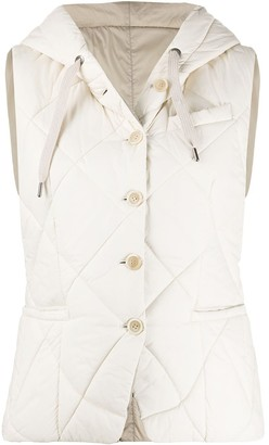 Brunello Cucinelli fitted hooded gilet