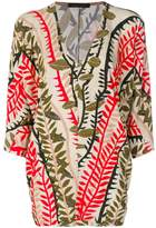 Alberta Ferretti abstract pattern kaftan