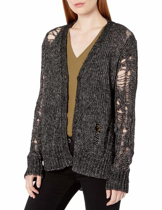 Pam & Gela Women's Cardi with Shreds