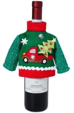 Holiday Lane Christmas Cheer, Christmas Sweater Bottle Cover, Created for Macy's