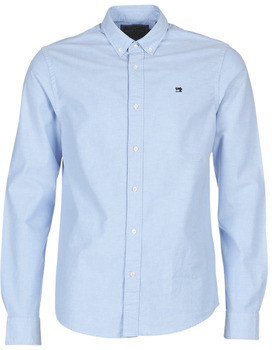 Scotch & Soda Scotch Soda NOS OXFORD SHIRT REGULAR FIT BUTTON DOWN COLLAR men's Long sleeved Shirt in Blue