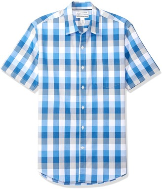 Amazon Essentials Men's Slim-Fit Short-Sleeve Stripe Shirt