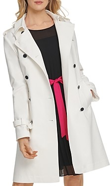 DKNY New York Belted Trench Coat