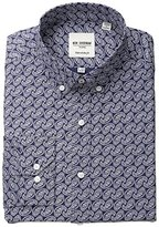 Ben Sherman Men's Slim Fit Fit Paisley Shirt with Button Down Collar