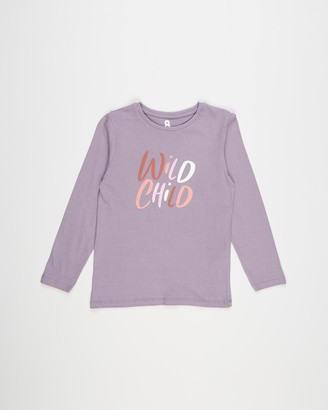 Cotton On Girl's Purple Long Sleeve Tops - Penelope Long Sleeve Tee - Kids-Teens - Size 2 YRS at The Iconic