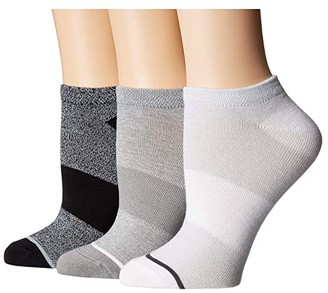 Sof Sole All Sport Lite Marls No Show 3-Pack (Black/White/Grey) Women's No Show Socks Shoes
