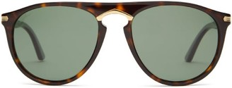 Cartier Eyewear - Aviator Acetate Sunglasses - Mens - Tortoiseshell