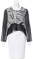 Thakoon Sequin-Embellished Silk Cardigan w/ Tags