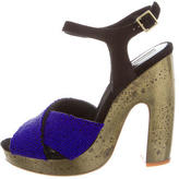 Dries Van Noten Embellished Platform Sandals