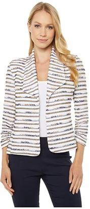 Elliott Lauren In the Fray Ruched Sleeve Jacket (Camel Multi) Women's Clothing