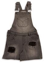Calvin Klein Jeans Girls 7-16 Distressed Shortall