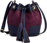 Liz Claiborne Drawstring Mini Bucket Bag
