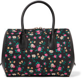 Nina Ricci Extra small floral-print canvas and leather tote