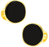 Ox & Bull Trading Co. Men's Vermeil Classic Formal Onyx Cufflinks