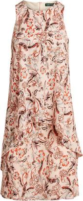 Ralph Lauren Floral Layered Crepe Dress
