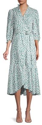 Rebecca Taylor Floral Ruffle-Trim Wrap Dress