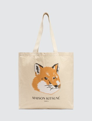 MAISON KITSUNÉ Fox Head Tote Bag