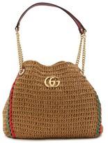 Gucci Large raffia tote bag