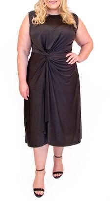 Coldesina Jude Ruched Waist Sleeveless Dress