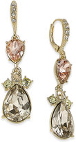 Givenchy Gold-Tone Multi-Stone Crystal Drop Earrings