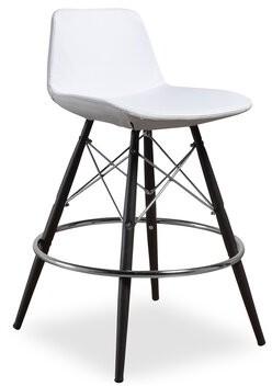 "Wrought Studioâ""¢ Gorham Bar & Counter Stool Wrought Studioa Upholstery: White, Stool Type: Short Stool (23"" Seat Height)"
