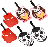 Bundle Monster 3pr Colorful Silicone Luggage Tag Set
