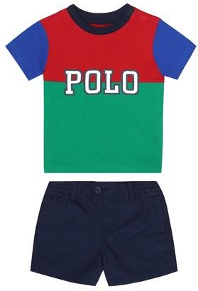 Polo Ralph Lauren Kids Baby T-shirt and shorts set