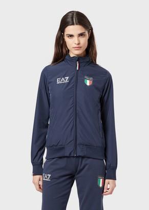 Emporio Armani Ea7 Jacket With Team Italia Hood