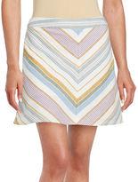 Free People Striped Mini Skirt
