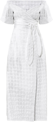 Mara Hoffman Adelina Organic Cotton Maxi Off-The-Shoulder Wrap Dress