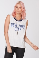Chaser LA Empire State Muscle Crop in White