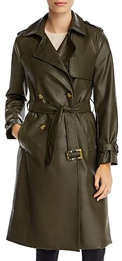 Apparis Lucia Faux Leather Trench Coat