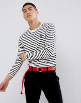Wood Wood Striped Long Sleeve T-shirt With Aa Logo
