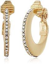 Anne Klein Gold-Tone Hoop Clip-On Earrings