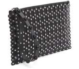 RED Valentino Black Leather Pouch With Studs From