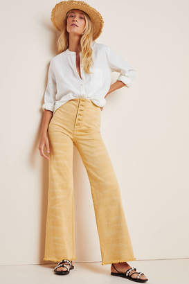 Pilcro Ultra High-Rise Frayed Bootcut Jeans