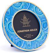 """Jonathan Adler Blue Malachite-Pattern 4"""" Frame"""