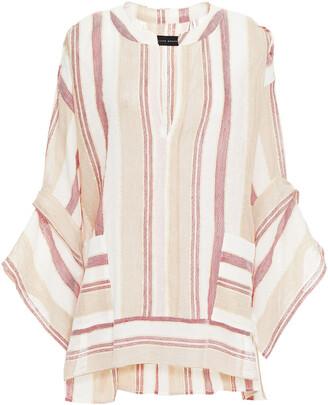 Roland Mouret Ciro Striped Gauze Tunic