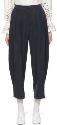 See by Chloe Navy Flowy Pleated Trousers