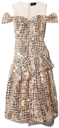 Simone Rocha Bustier Full Dress with Arm Detail in Gold