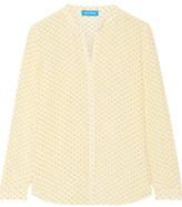 MiH Jeans Evelyn Floral-Print Silk Crepe De Chine Shirt