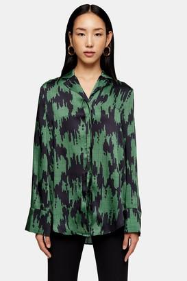 Topshop Womens **Ikat Print Shirt By Multi