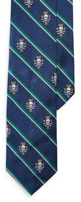 Ralph Lauren Stripes & Skulls Narrow Tie