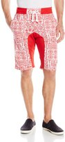 Southpole Men's Jogger Shorts with Southwest Patterns and Drop Crotch