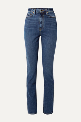 KHAITE Daria High-rise Slim-leg Jeans - Dark denim