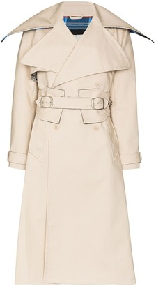 Charles Jeffrey Loverboy Orkney belted trench coat